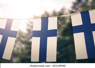 Finland flag pennants