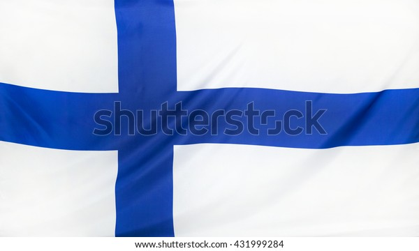 Finland Flag real fabric seamless close up