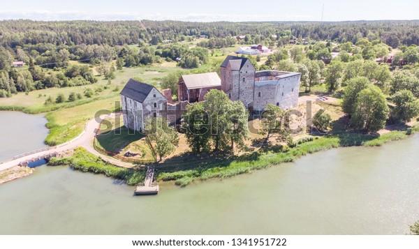 Finland heritage Kastelholm Castle in the midsummer, Sund, Aland islands, Finland
