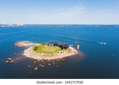 Finland. Kotka. Bird's-eye view of Fort Slava. Kukouri