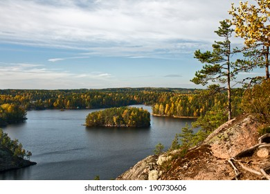 Finland landscape. Finland is a country of lakes.