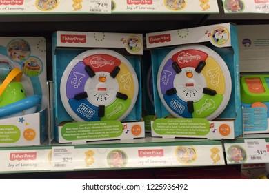 Finland, Lappeenranta, 22,05,2015 Musical children's toys on the store shelf