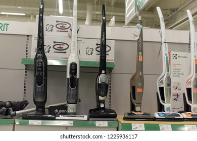Finland, Lappeenranta, 22,05,2015 Vacuum cleaners on the shelf in the store