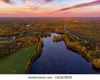 Finland Oulu Landscapes from aerial photography