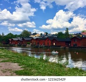 finland porvoo old town
