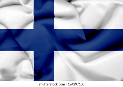 Finland waving flag