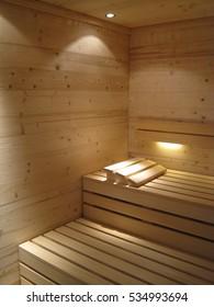 Finland-style classic wooden sauna