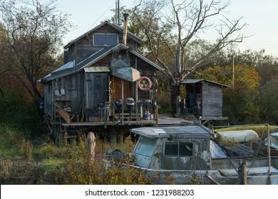 Finn Slough house on the river
