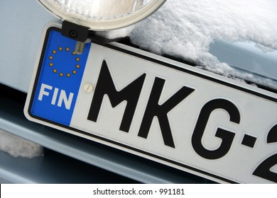 a finnish car number/ license plate