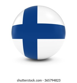 Finnish Flag Ball - Flag of Finland on Isolated Sphere
