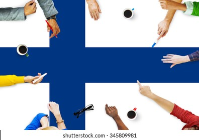 Finnish National Flag Government Freedom LIberty Concept