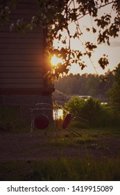 Finnish summer background pictures during sunset.