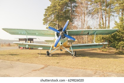 FINOWFURT, GERMANY - FEBRUAR 16, 2017: Old plane at the Aviation Museum. Being in East Germany, this museum has lots of Soviet-era relics.