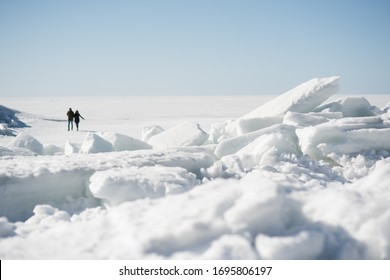 finskii zaliv snow white see - Shutterstock ID 1695806197