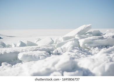 finskii zaliv snow white see - Shutterstock ID 1695806737