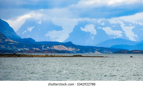 Fiordo Ultima Esperanza (Last Hope Sound) from the town of Puerto Natales, Chile / Patagonia
