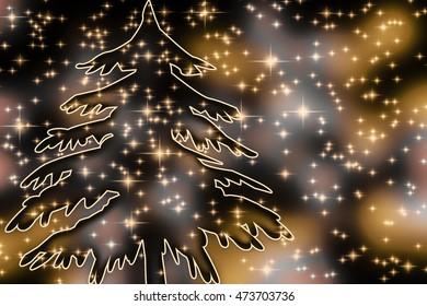 fir with many little stars
