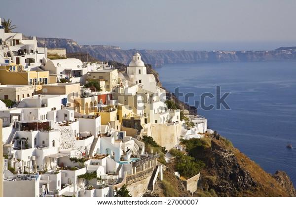 Fira, Main Town of Santorini, Greece