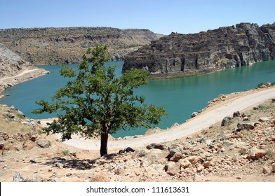 Firat River (Euphrates River), in Gaziantep, Turkey.