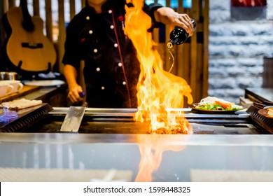 fire action on teppanyaki station