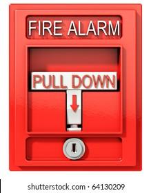 Fire alarm, 3d illustration