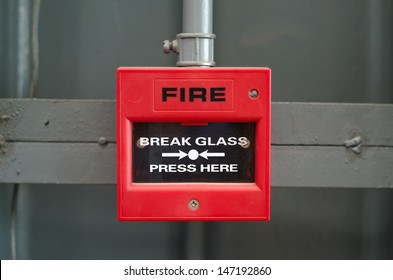 Fire alarm box in factory