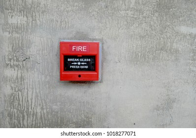 fire alarm box on wall for warning and security system