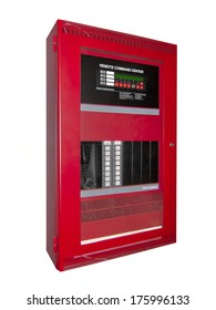 Fire alarm control box, isolated with clipping path