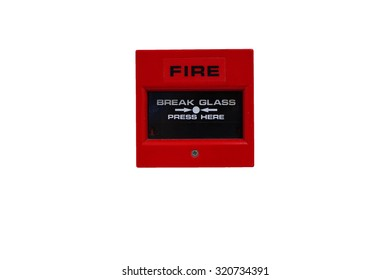 fire alarm ,isolate on white background