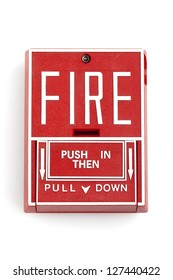 Fire alarm, isolated over a white background