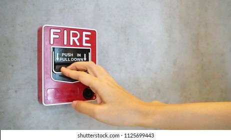 Fire alarm notifier or alert or bell warning equipment use when on fire.