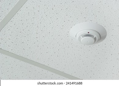 Fire alarm on the ceiling