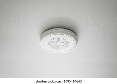 fire alarm security safety device system, attached to ceiling in people's home or in public area, alert safety of public incase of fire, sound system sensor that will detect fire smoke and warn people