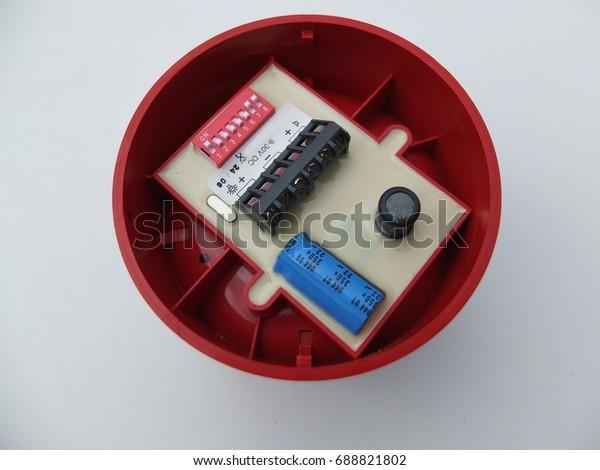 Fire Alarm Siren Back Side Dip Stock Photo (Edit Now) 688821802