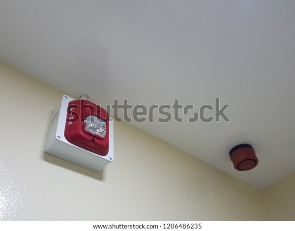 Fire Alarm Siren Flashing Light Strobe Stock Photo (Edit Now