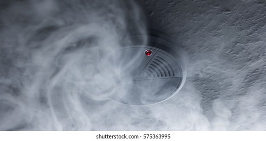 Fire alarm will be triggered with a smoke detector