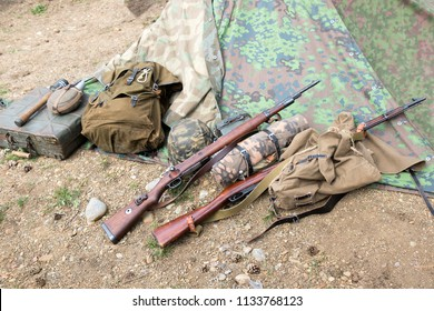 Fire arms and weapons of worls war 2, Mauser Karabiner 98k, Mosin–Nagant 3-line rifle M1891