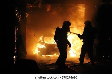 Fire in auto repair shop