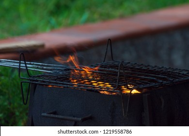 Fire in the barbecue