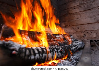 Fire and barbecue flame