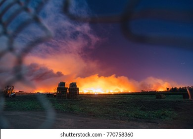 Fire behind the fence