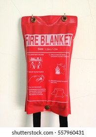 fire blanket in physics laboratory at elementary school