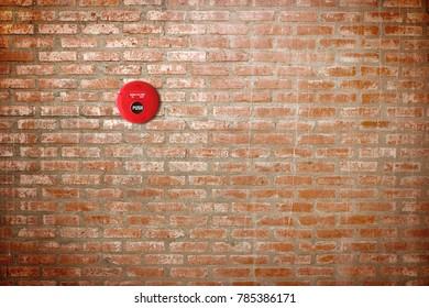 fire break glass on brick walll background