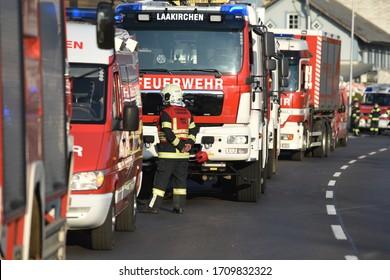 Fire brigade vehicles in the Salzkammergut (Upper Austria)