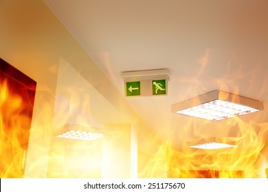 Fire in the building