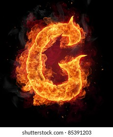 Similar Images Stock Photos Vectors Of Fire Alphabet Letter Q
