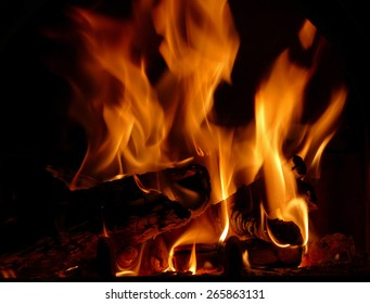 Fire burning wood