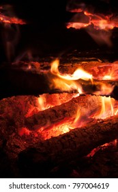 fire and burning wood
