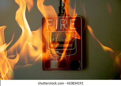 Fire by short circuit with manual fire alarm safety system