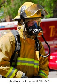 Fire captain on the scene of an emergency.